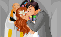A Brides First Kiss Dressup