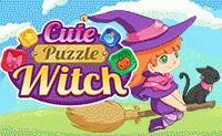 Schattige Puzzel Heks