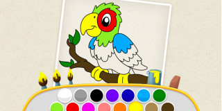 Kids Color Book - Thema spiele - 1001 Spiele