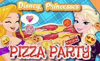 Disney Princesses Pizza Party