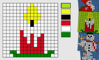 Christmas Mosaics 16x16