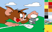 Tom & Jerry Painting