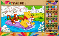 Winnie the Pooh Color Math