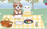Cat and Dog Picnic
