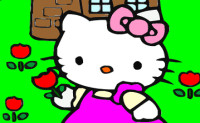 Hello Kitty In The Tullip Garden